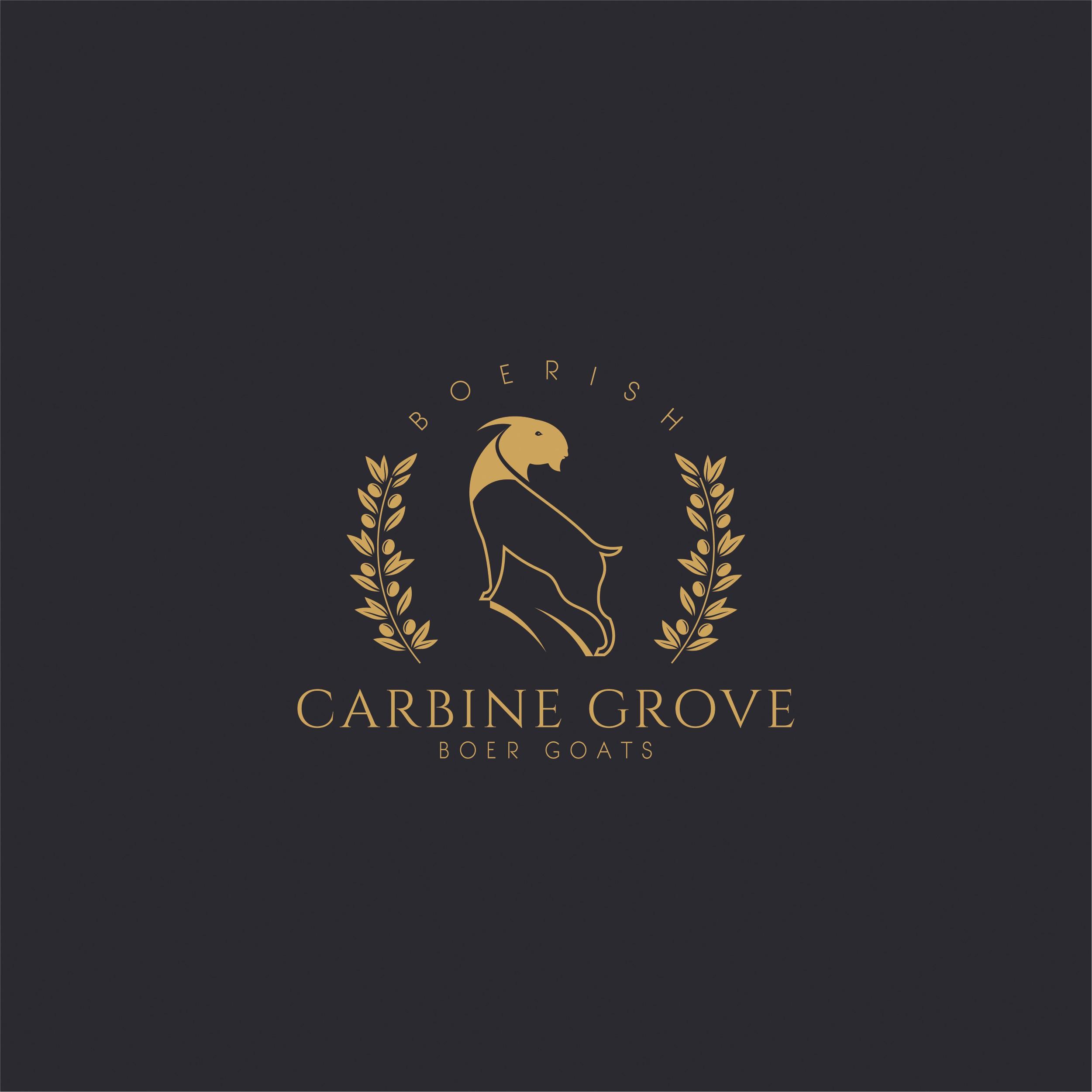 Carbine Grove Boer Goats needs a sophisticated logo for our gourmet goat farm.