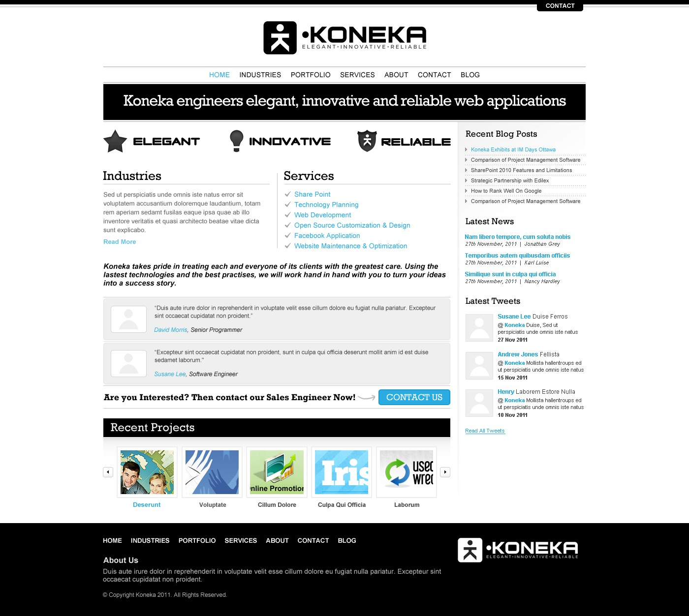 Koneka`s Black & White Homepage