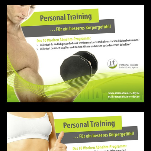 postcard, flyer or print für Personal Trainer Eddy Ayebe