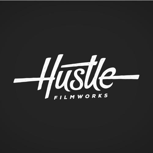 Handcrafted script lettering logo for a filmmaker