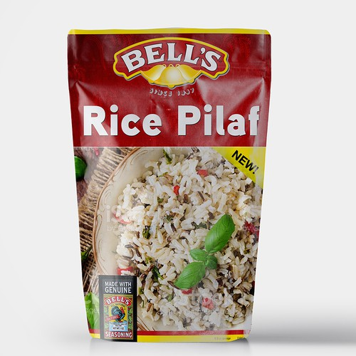 Rice zip pouch packaging design
