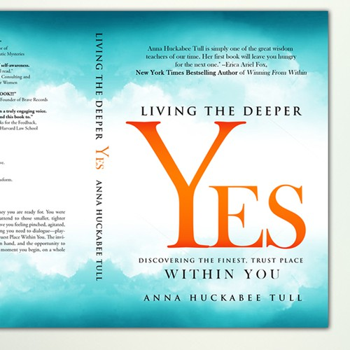 """Book cover Concept for """"Living the Deeper Yes"""""""