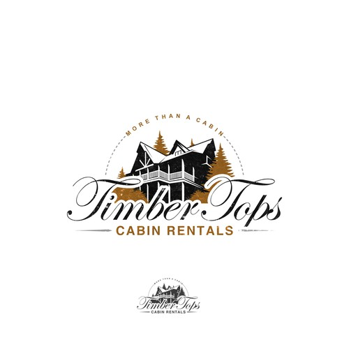 Logo design for Timber Tops Cabin Rentals