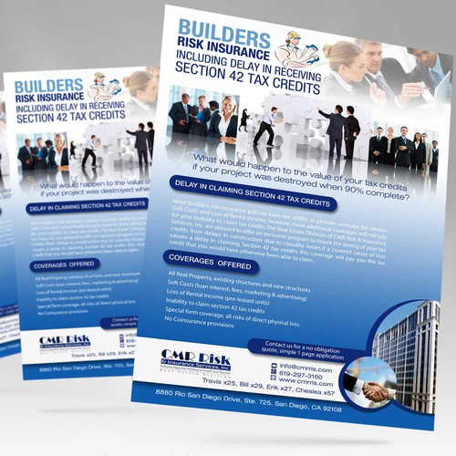 Design a self-mailer to generate interest in the benefits of our unique/exclusive program