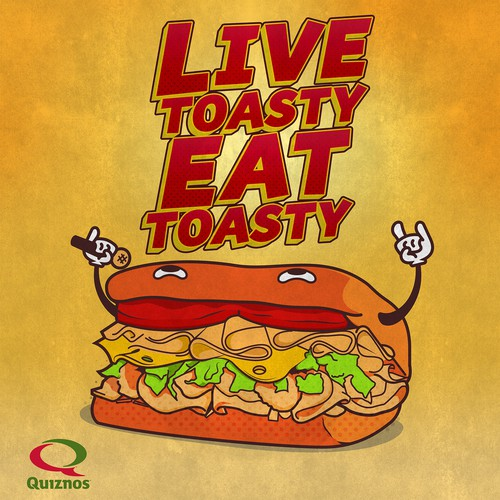 poster design for quiznos