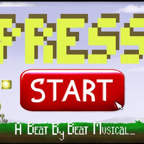 8 bit games inspired title art for