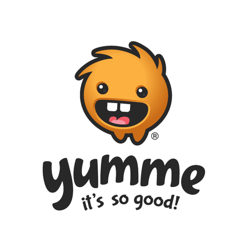 Mascot logo for food app