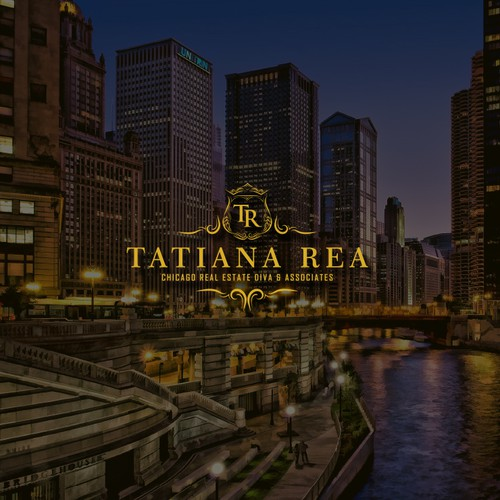 "Classy and Elegant logo for ""TATIANA REA"" Chicago real estate diva & associates"