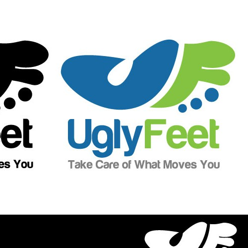 LOGO UPDATE!!! YourUglyFeet.com edgy Athlete Footcare