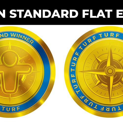 Coin Standard Flat Edge design