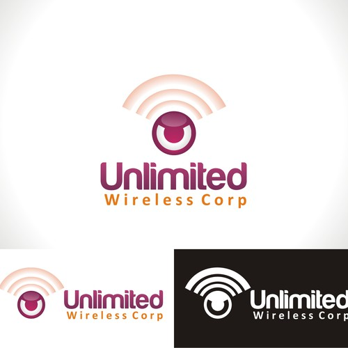 Create the next logo for Unlimited Wireless Corp