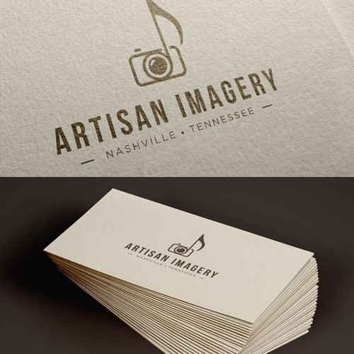 A logo that mix photography and music.
