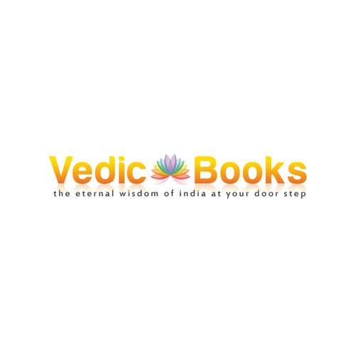 A peaceful logo for spiritual book store