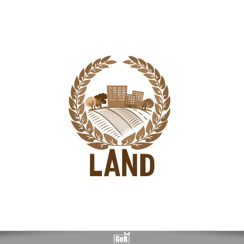 Design a logo for a business that encapsulates everything that is connected to Land and Land transactions