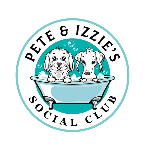 a Cartoon Dogs Logo for Dog Grooming Salon