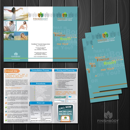 print or packaging design for FinishBody Cosmetic Surgery Center