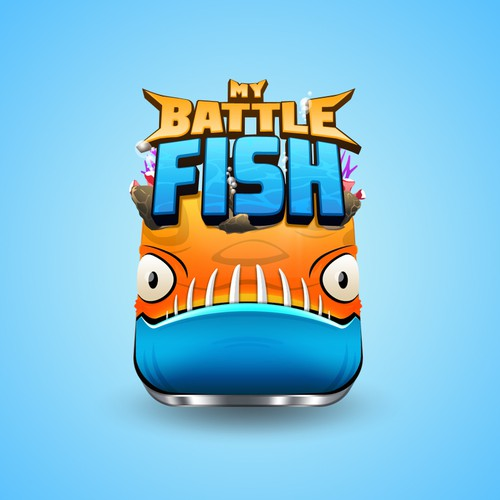 My Battle Fish Logo for Mobile Game