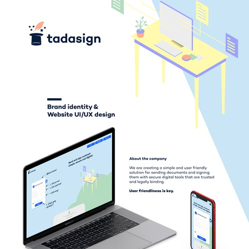 Tadasign Brand Identity and website design