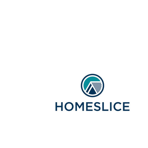 Design for a clever logo for Homeslice: an innovative real estate company