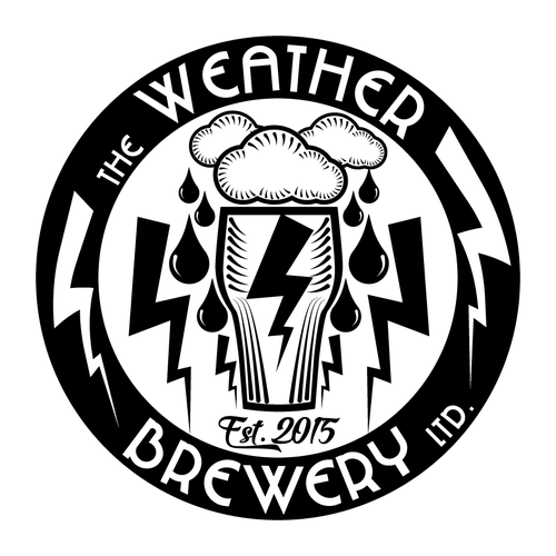 Weather Themed Craft Brewery Logo