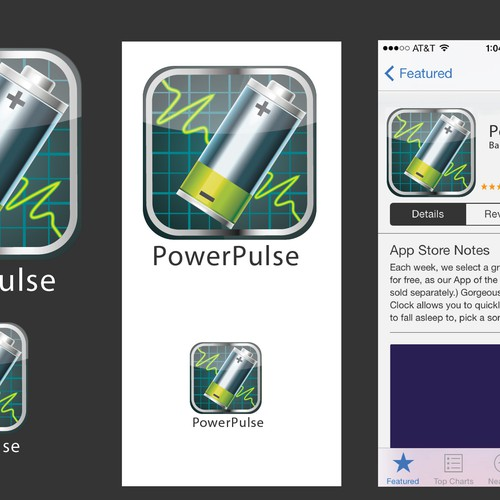 Mobile App Icon for PowerPulse
