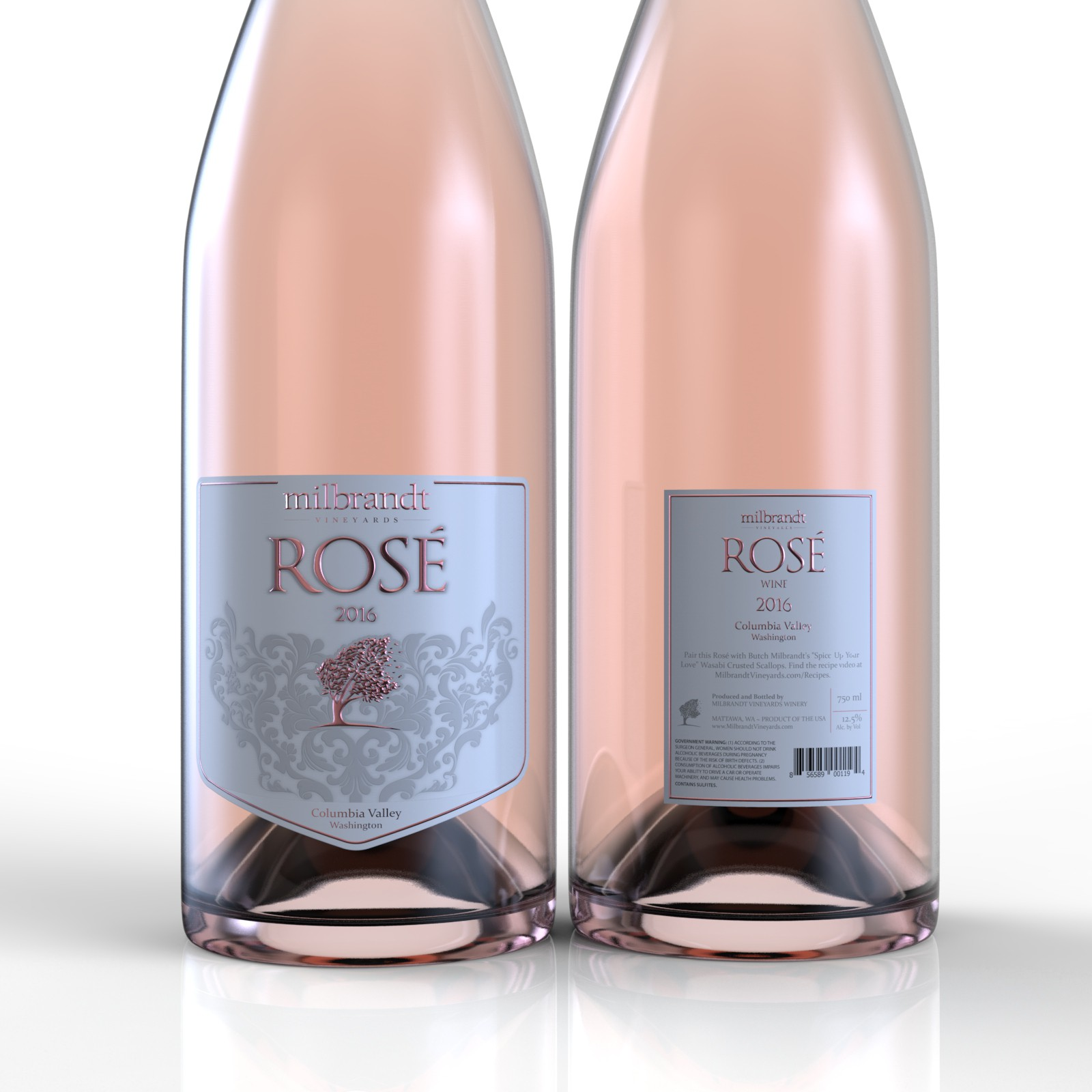 Rosé Wine Label for National Brand
