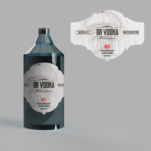 DR Vodka Label contest entry
