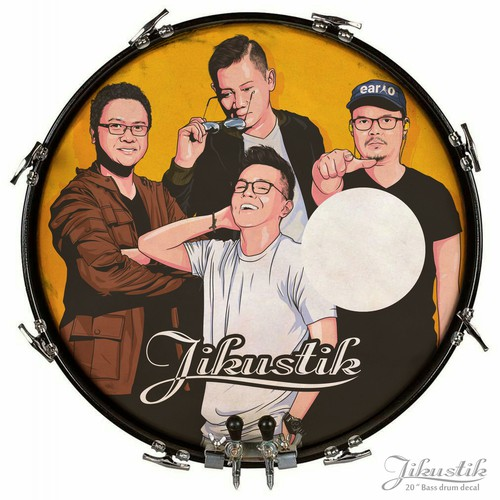 Jikustik Bass Drum Decal