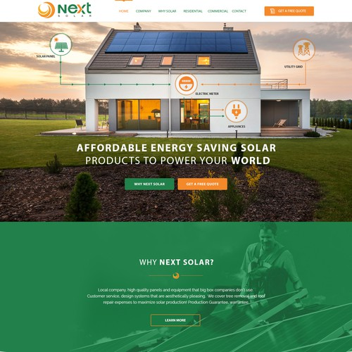 Stand Out Solar Energy Website