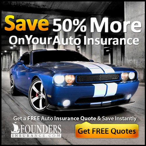 Bold Car Ad for Auto Insurance Site