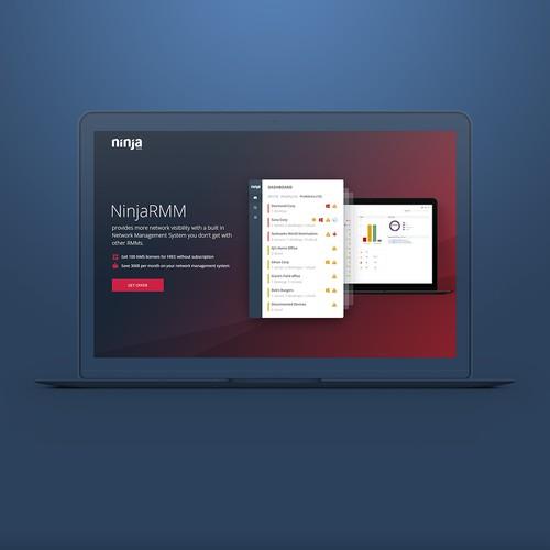 NinjaRMM Landing Page Design