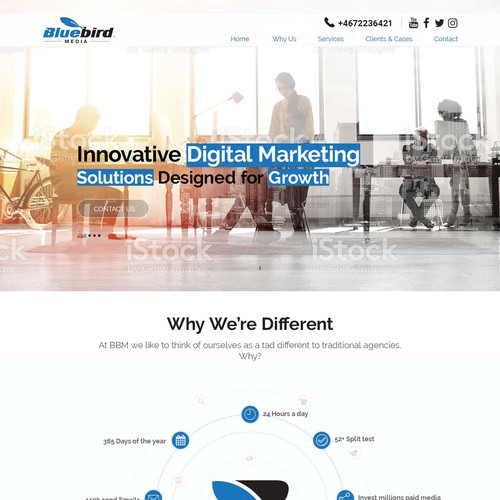 Web Page Design for BlueBird