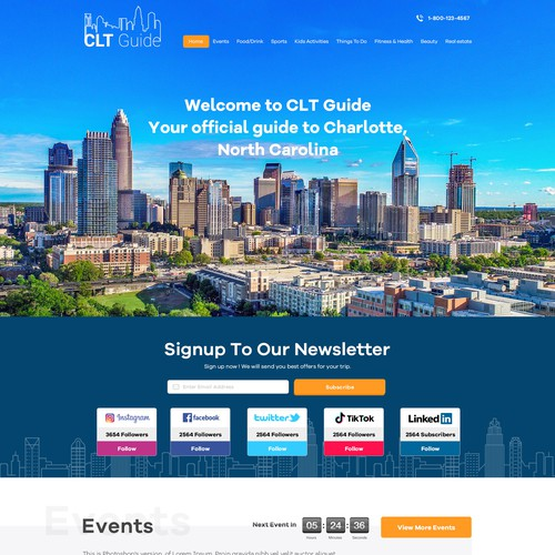 Travel guide web page design