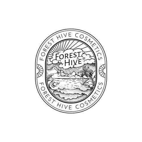 Concept logotype for Forest Hive Cosmetics