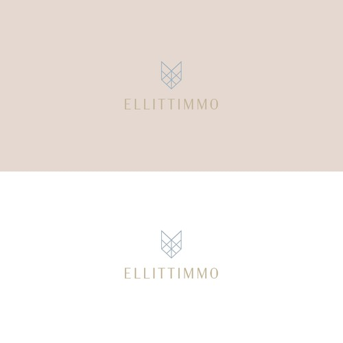 Luxurious logo for premium Moroccan real estate.