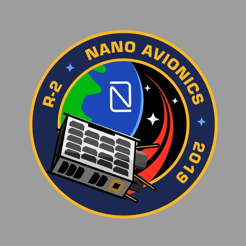 Illustrate a mission patch for a satellite mission!