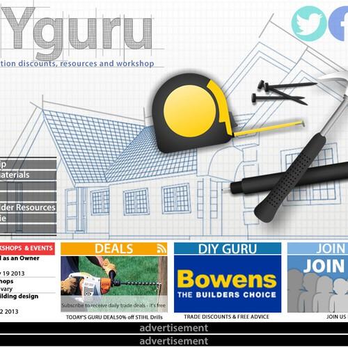 DIY Guru (www.diyhomerenovation.com.au) needs a new website design