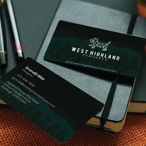 Abstract West Highland Terrier Design for Innovative Consulting Company