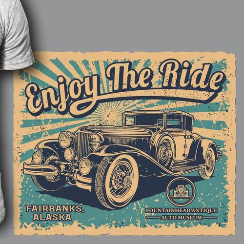 Vintage Design for car museum shirt