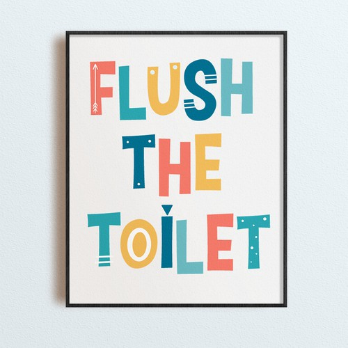 Bathroom poster for kids