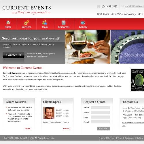 Fun redesign for Events management company!