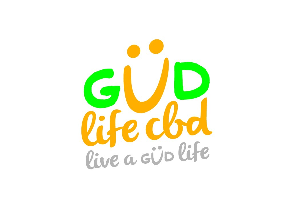 The GUD Life CBD/ a Happy, Fun logo for a brand that is for better health