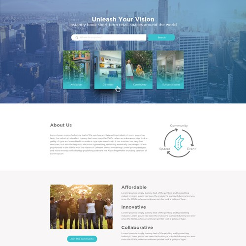 Simplistic Website Design