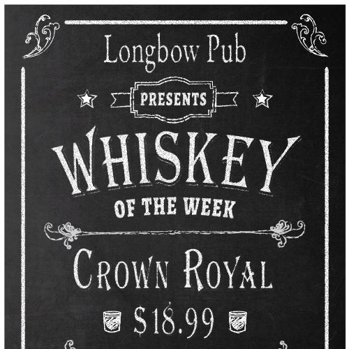 Whisky Promotional Postcard for Longbow Pub