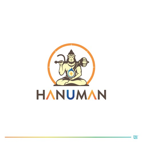 Modern and Playful logo for HANUMAN Logo