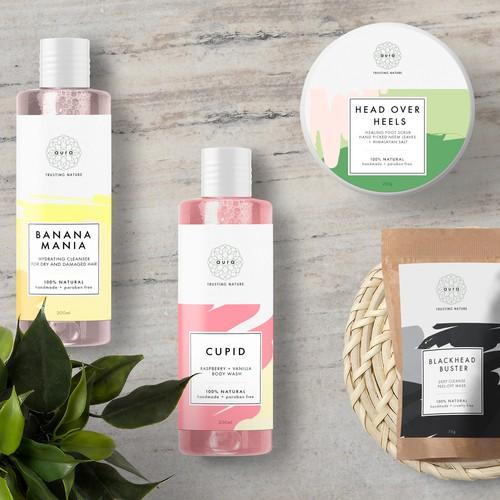 Natural skin care labels