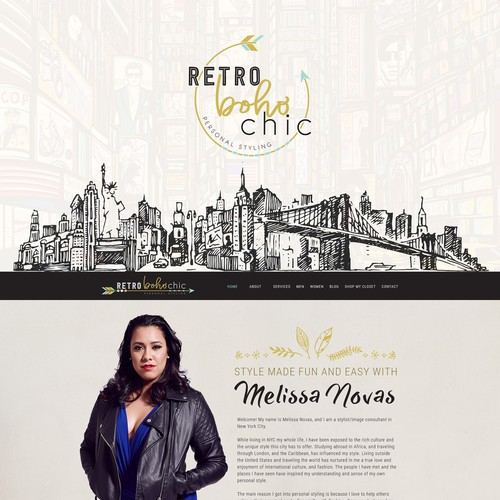 RetroBohoChic Website Design