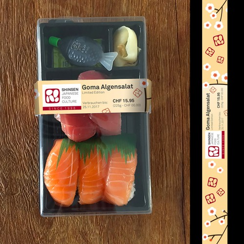 Cinta para embalagem da Shinsen, Suiça.