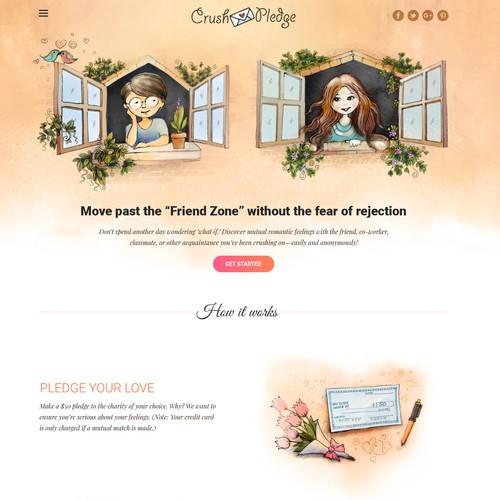 Website redesign for CrushPledge