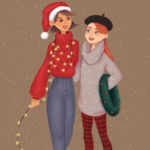 Design for Christmas card